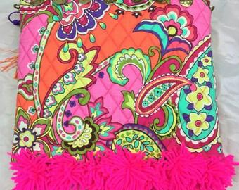 Boho style paisley over shoulder bag