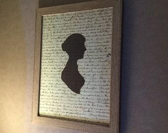 Frame portrait Jane Austen