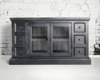 Media Console, Entertainment Console, Reclaimed Wood, TV Stand, Console Cabinet, Handmade