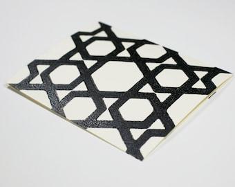 Geometric Block Printed Cards - Set of 6