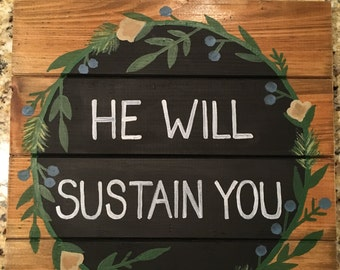 Hand painted Wood Plaque - Bible Scripture