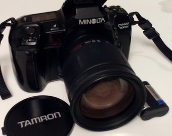 Camera camera Minolta Dynax Slr Cullmann is 700 Analog lens Tamron 28-200 mm