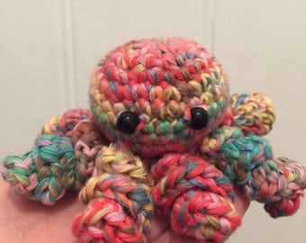 Octopus - multi coloured amigurumi