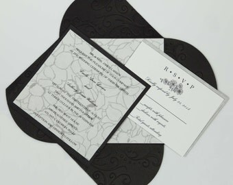 Simple Yet Elegant Wedding Invitation Suite (SAMPLE CARD)