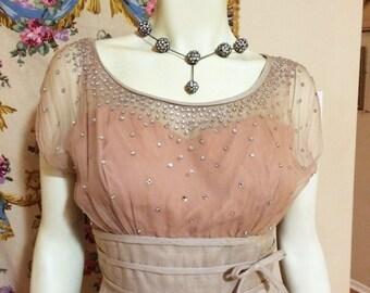 Movie Star seductive  Glamorous! Mesmordzingly dazzling Rhinestone Encrusted Iconic Peggy Hunt Vintage 1950s  50s Wiggle dress