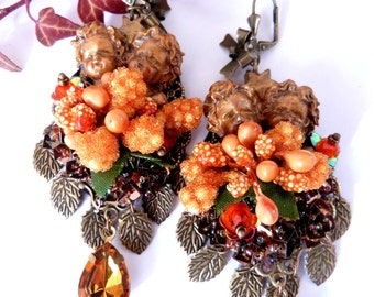 Angels of baroque autumn earrings