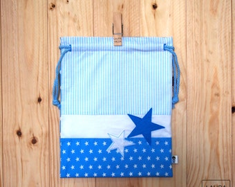 "snack bag Star - Blue / lunch bag ""star"" - blue"
