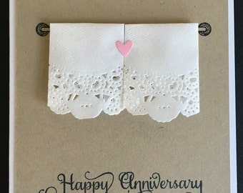His and Hers Towels Anniversary card