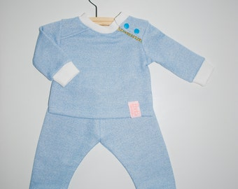 Baby set of soft french terry-size 62