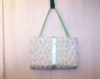 Vintage 1960's Mint Green Clutch Purse