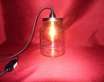 Large Kilner style jar lamps