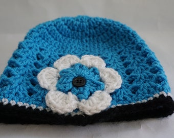 Crochet football hat, Football team colors, baby football hat, (choose team, choose size)