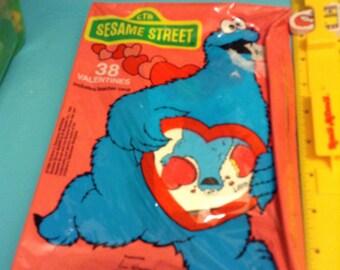 Vintage Sesame Street Valentine Cards