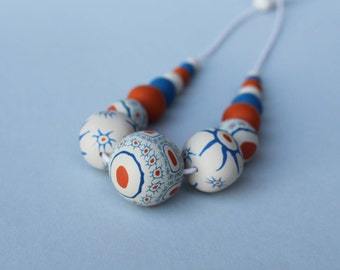 Polymer clay necklace. Polymer clay necklace.