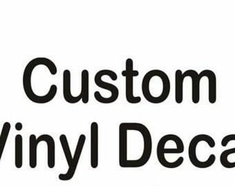 Custom Vinyl Decal / Yeti Decal