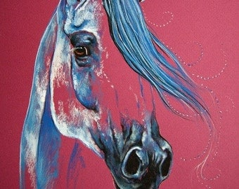 Magic of the Horse Original Chalk Drawing