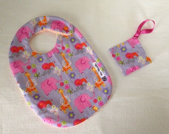 Baby bib cotton towel jungle animals