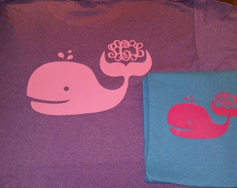 Whale Shirt with Monogram