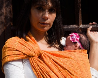 Mexican woven baby wrap carrier long  Rebozo sling