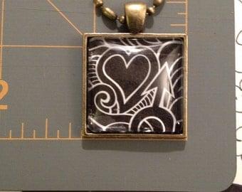Handmade pendant, Handmade Jewelry, Necklaces, Square Pendant