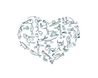 "Postcard ""my funny valentine""-eDITION good spirits"