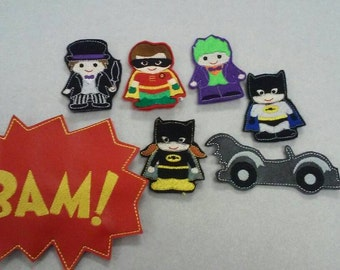 Batman finger puppets