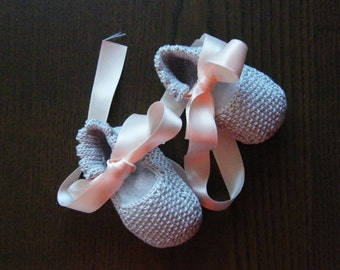 Baby girl booties ballet slippers