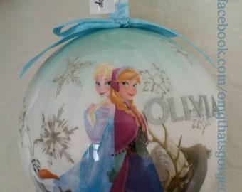 Personalised Elsa Frozen Christmas Bauble - Tree decoration - Elsa - Frozen - Christmas ornament - Personalised - Let it go - Disney
