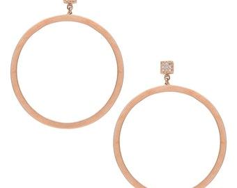 Circle Hanging Earrings