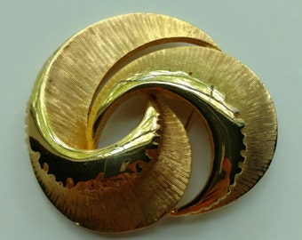 Gold Spiral Brooch