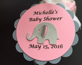 Handmade baby shower tags