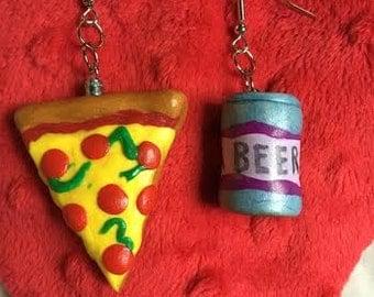 Pizza + Beer Earrings