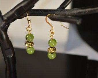 Green  Canadian Jade Earrings