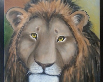 Lion Oil Painting 18x24