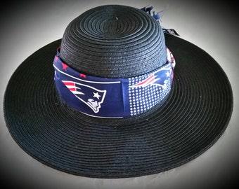 New England Patriots  Womens Big Brim Floppy Sun Hat