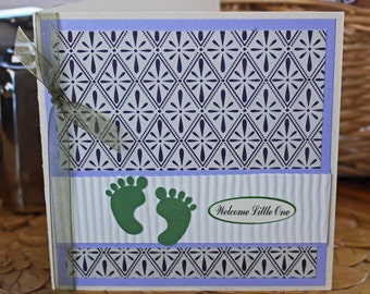 Welcome Little One - Baby Card, New Baby, Baby Shower, Newborn Congratulations