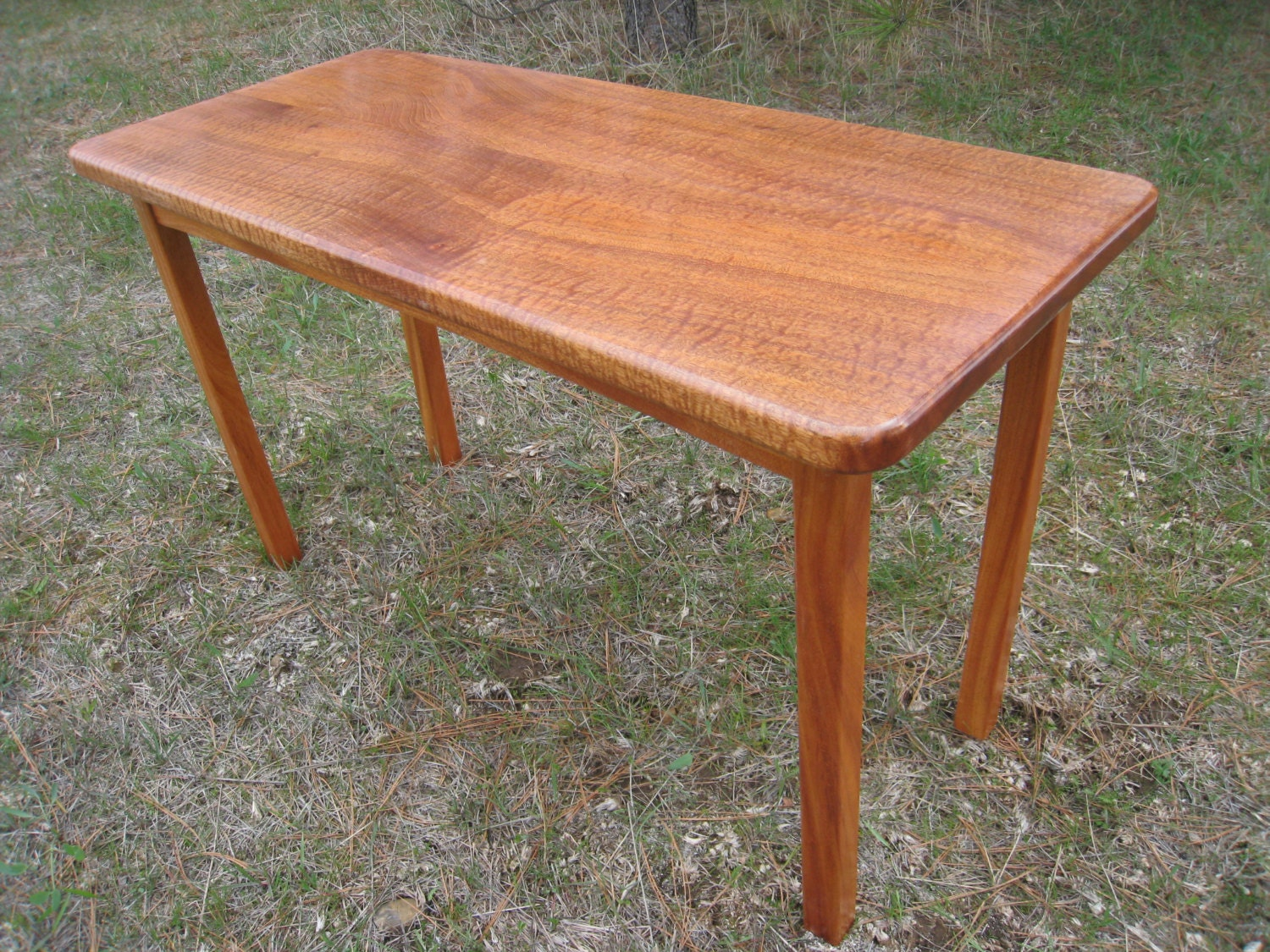 Rectangular Coffee Table From Exotic Wood Side Table