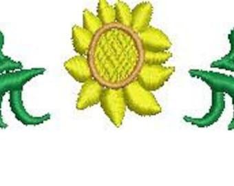 Machine Embroidery Sunflower Frame