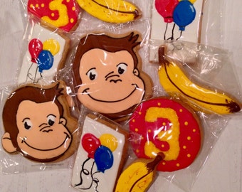 Curious George Inspired Cookies