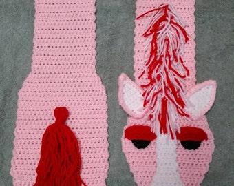 Crochet horse scarf, horse scarf, adult scarf
