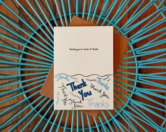 Ocean of Thanks Thank You Card, 5 Pack
