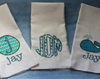 Beach Baby Burp Cloth Set
