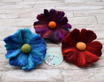 Felted Flower for the collar