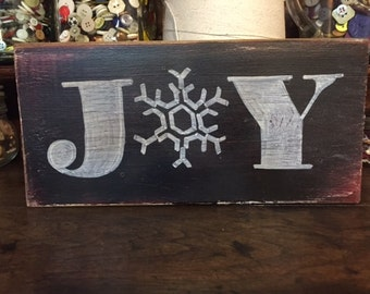 Black Chalkboard JOY sign
