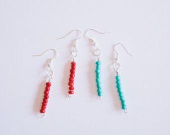 Tribal Dangle Bead Earrings