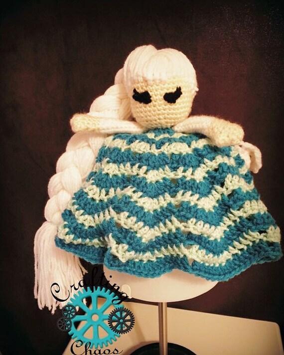 Crochet Elsa lovey frozen fever elsa blanket by ChaosOntario