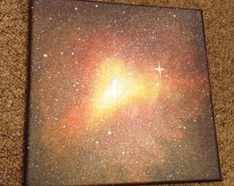 Galaxy nebula canvas art