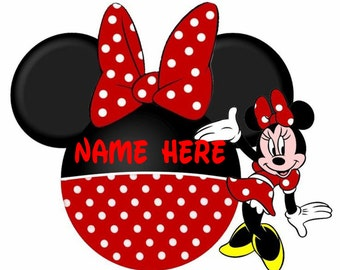 MINNIE MOUSE Personalized iron on transfer