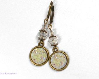 Earrings * ice * cabochon earrings