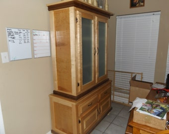 Tiger Maple China Cabinet